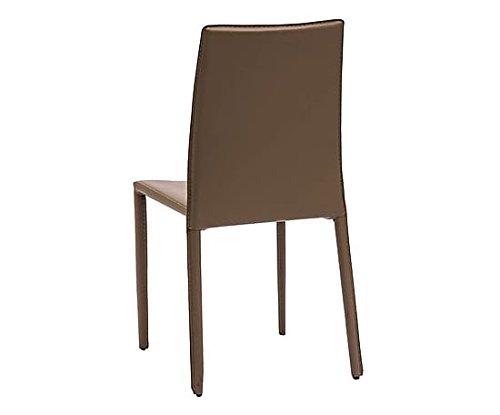 Sedie In Metallo Da Cucina : Sedie in metallo impilabili rivestite in ecopelle tortora