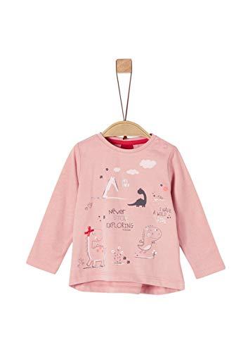s.Oliver Baby-Mädchen 65.908.31.8814 Langarmshirt, Rosa (Dusty Pink 4257), (Herstellergröße: 86)