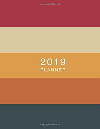 2019 Planner: Moroccan Sunset Hex Colors | Weekly Monthly View Calendar Organiser and Journal with Inspirational Quotes, Goal Trackers + To Do Lists
