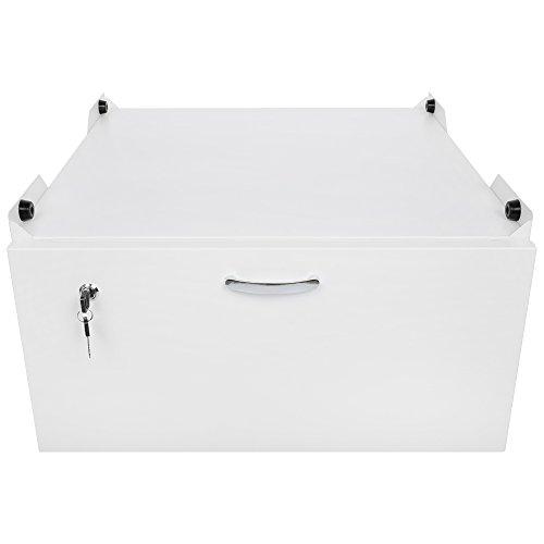 *Arkas WM-001-40 Unterbausockel mit Schublade für Waschmaschinen und Trockner, weiß*