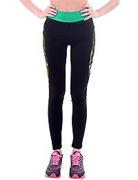 Smile YKK Legging Imprimé Femme Pantalon Longue Sport Yoga Jogging Running Amicissant Mode