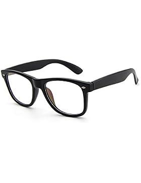 Monturas de gafas Wayfarer Retro Hombre y Mujeres Forepin® Unisex Gafas de Vista Lente Transparente