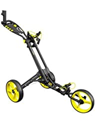 iCart One 3 Wheel One Click Push Trolley 2017 Grey/Yellow