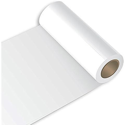 Your Design Oracal 631 - Rollo de vinilo adhesivo decorativo (63 cm, 10 m, mate), blanco, 10m (Laufmeter) x 63cm (Breite)