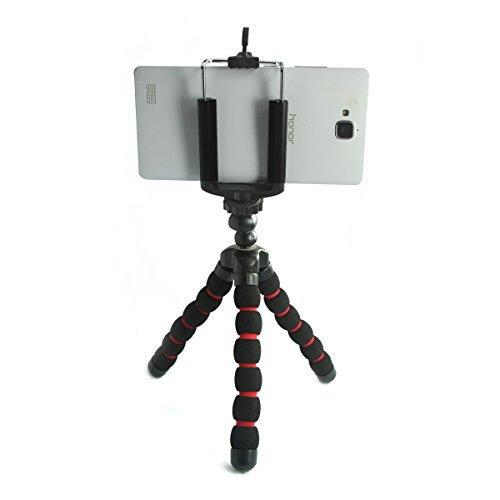 Mini Trípode Portátil Flexible Universal para Teléfonos Cámara Selfie + Soporte Adaptador de Montura
