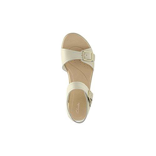 Clarks Bay Primrose - White Leather Weiß