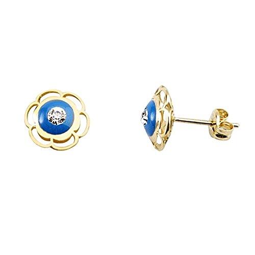 18k-orecchini-fiore-doro-zircone-blu-soffio-vetri-aa5402
