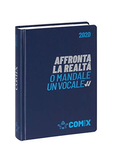 Comix Diario 2019/2020 datato 16 mesi, formato Mini 11x15.3 cm, blu scritta argento azzurro
