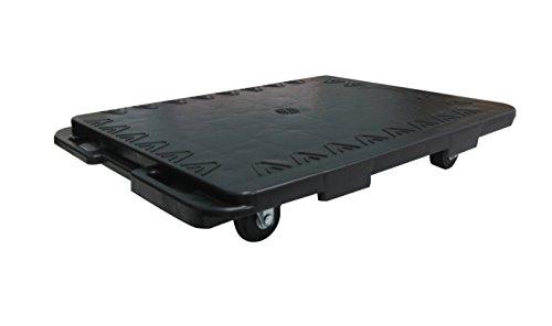 T-EQUIP Transportroller SKMW-ID-S, erweiterbar, Transportroller, Fahrgestell, Dolly, Möbelhund, Kapazität 150 kg, LxBxH: 480 x 380 x 85 mm, Schwarz