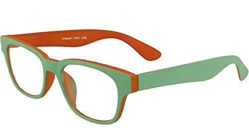 Lindauer Lesehilfe, Lesebrille, lesen, schöne Form, grün/mint und orange Damenbrille, Herrenbrille...