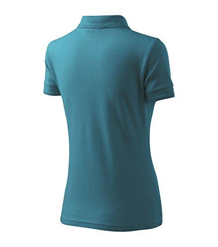c99112eda8a3 ... Poloshirt Polohemd für Damen Pique Polo von Adler - Größe und Farbe  wählbar - Dunkel Türkis ...