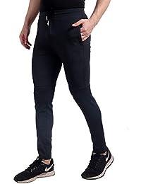 Smart Attraction Men's Trackpants Regular Fit Track Pants (BIACK,