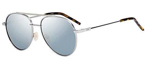 Fendi ff 0222/s t4 6lb, occhiali da sole uomo, grigio (ruthenium/gy grey), 56