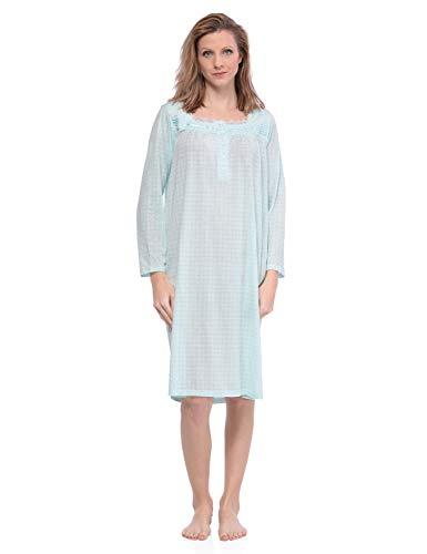 Casual Nights Damen Nachthemd Gr. M, Dot/Green -