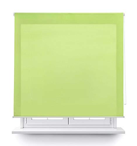 MERCURY TEXTIL Estor Enrollable translúcido Liso (Verde, 120x180cm)