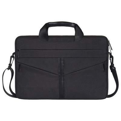 Aktentasche Stoßfestes Nylon Schulter Handtasche Messenger for 13 14 15 15.4 15.6 Notebook Fall Frauen Männer Sleeve Laptop Bag (Color : Black, Size : 13 inch) -
