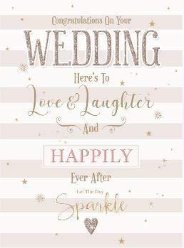 CO-ML429 Glückwunschkarte zur Hochzeit, Motiv Kirsche Orchard - Love and Laughter - schöne geprägte und folienbeschichtete - Grußkarte für beide von Ihnen (englischsprachig)