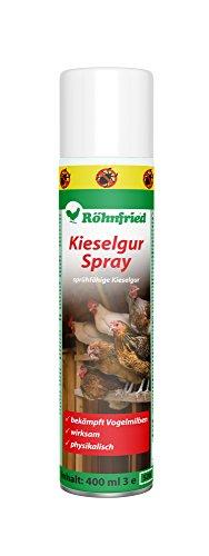 Röhnfried Kieselgur Spray Insektenspray, Kieselgur-Spray gegen Vogelmilben, Ameisen, Spinnen & Insekten, Ungezieferspray für Garten & Wohnung, 400 ml