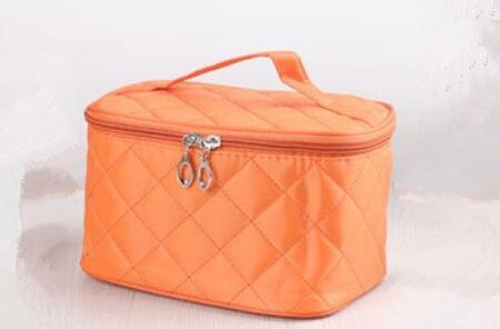 HQYSS Borse donna Carino portatile pieghevole impermeabile ammissione pacchetto trucco caso , medium red rose medium orange