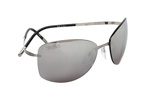 Silhouette occhiali da sole titan pure 8149 ruthenium/grey uomo