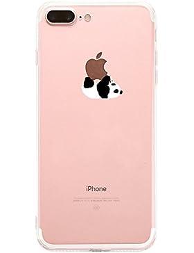 Teryei® TPU Silicona Funda Protección Premium Semi-Transparente Caso cover para iPhone 7 plus 5.5 pulgadas - oso...
