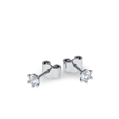 21Diamonds Damen-Ohrstecker Las Vegas mit Diamant 0.1 ct , 925 Sterling Silber Ohrringe (Edelstein-las Vegas)