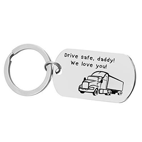Epinki Acero Inoxidable Llavero Grabado Drive Safe