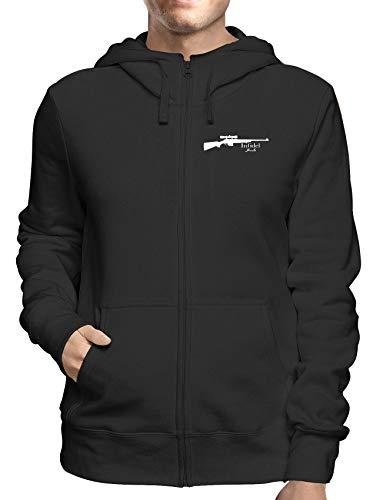 Sweatshirt Hoodie Zip Schwarz FUN1675 Guys Guy Zip Hoodie