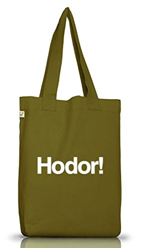 Shirtstreet24, HODOR! Jutebeutel Stoff Tasche Earth Positive (ONE SIZE) Leaf Green