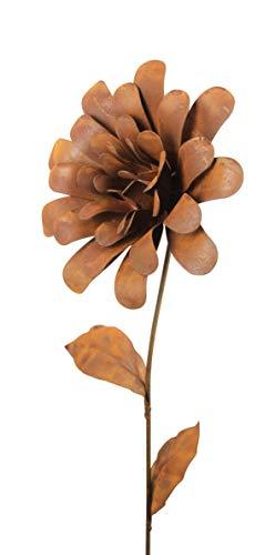 Gartenstecker Blume Metall Rost Gartendeko Edelrost Dahlie