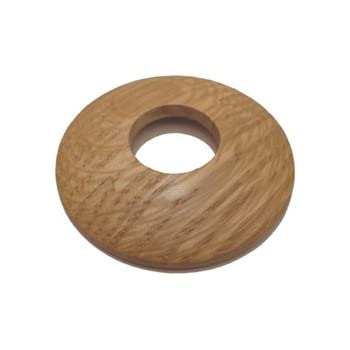 Solid Oak Pipe Collar / Radiator Ring / Pipe Rose (Unfinished)