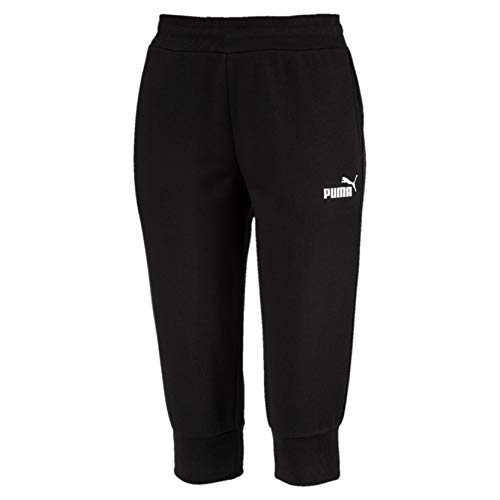 PUMA Damen ESS Capri Sweat Pants TR Hose, Cotton Black, M -
