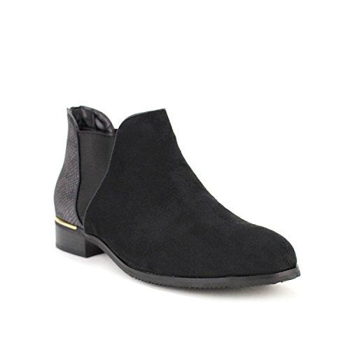 Cendriyon Bottine Noire Daim Lonita Chaussures Femme Noir