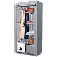 Armoire de rangement portable en toile avec penderie et tiroir cubique (1 pièce) Idéal pour le rangement, les meubles de…