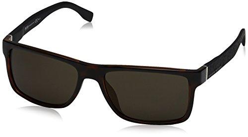 BOSS Hugo Herren 0919/S NR Z2I Sonnenbrille, Schwarz (Havana Black/Brw Grey), 57