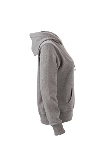 James & Nicholson Veste à capuche Sweat-shirt de sport Gris mélangé