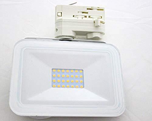 Projecteur pour rail conducteur Projecteur à LED 3 phases *Super fin* 230 V / 20 W / 1800 lm - Angle d'éclairage 110° - Intensité variable - Idéal pour les vitrines et les magasins - Couleur de lumière : 3000 K/4500 K (au choix) Moderne 3000 K