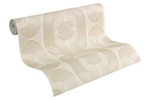 A.S. Création papel pintado Retro Style beige crema blanco 10,05 m x