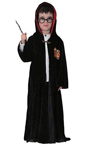 SIZE3 - Costume di Carnevale da Harry Potter per Bambini Completo di Accessori - 10 - 11 Anni