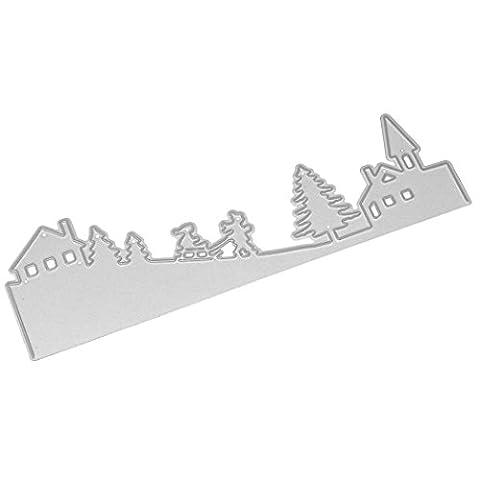 Gaddrt Frohe Weihnachten Kinder intellektuelle Entwicklung Durable Metal Cutting Dies Schablonen Scrapbooking Prägung Album DIY Papier Karte Kunst Handwerk (B)