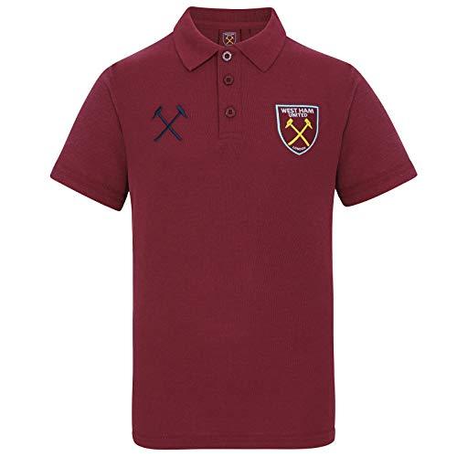 West Ham United FC Polo Oficial Para Hombre - Escudo