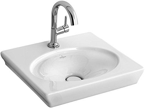 Preisvergleich Produktbild Villeroy & Boch Handwaschbecken La Belle 732450 52x46cm mit Hahnloch durchgestochen ohne Überlauf we