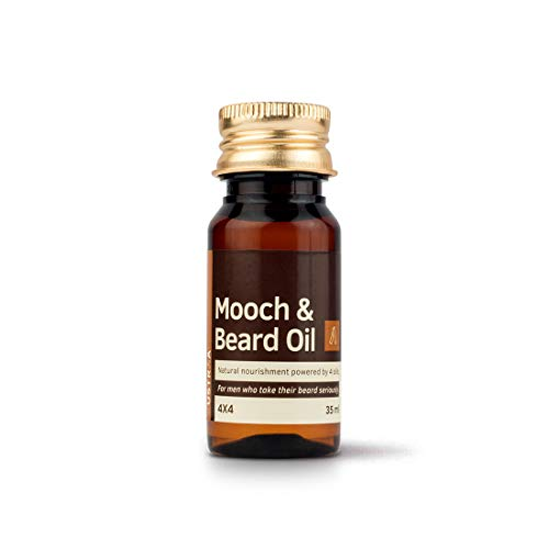 Ustraa Mooch and Beard Oil 4x4 for Beard nourishment and care - 35 ml