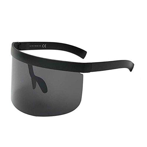 UGUAX Herren Frauen Funky Sonnenbrille Extra Oversize Visier Shield Maske Elegant verschnörkelte Gläser, Color-1