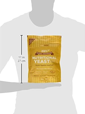 Natural Non-Fortified Nutritional Yeast Flakes (227g) : Savoury Condiment & Pure Plant Based Nutrition. A natural powder source of both protein and fibre, all 18 amino acids and a multitude of different minerals (including iron, selenium and zinc) as well