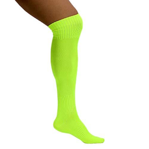 WADUANRUN Erwachsene Baumwolle Lang Fußball Socken für Männer und Frauen Herren hohe Fußballsocken fluoreszierend grün rosa gelb blau Strümpfe grün - 6 Nike Basketball-schuhe Größe Jungen
