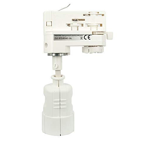 CLE 3-Phasen Stromschienenadapter mit Schuko Kupplung weiss