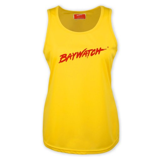 Ladies Licensed Baywatch Yellow Cooltex Vest - X-Small to X-Large