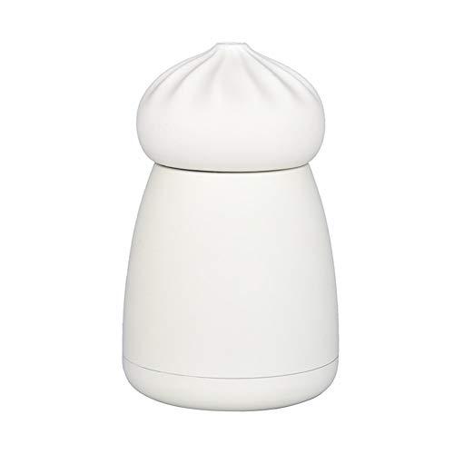 ZRDY 260 Ml Deckel Thermosflasche Saugnapf Erwachsene Babyflasche Für Wasser Tragbare Edelstahl Isolierflasche Trinkbecher (Color : White bun) - Mädchen Deckel Bun