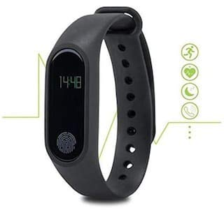Bingo f0s Plus Smart Band with Heart Rate Sensor Features and Many Other Impressive Features, Water Proof Or Sweat Free Compatible with All Device (Black)
